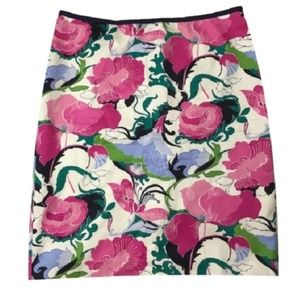  TALBOTS floral bright pencil skirt 16 plus
